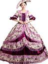 One-piece/Klänning Gotisk Lolita Steampunk® Rokoko Cosplay Lolita-klänning Purpur Vintage Lång ärm Lång längd Hatt För Dam Satäng Spets