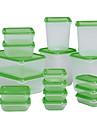17pcs in sweden pruta mat förvaringsbox förseglade skarpare plast kylskåp bevarande box container köksutrustning