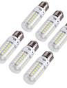 4W E14 / E26/E27 LED-lampa T 69 SMD 5730 240 lm Varmvit / Kallvit Dekorativ AC 220-240 / AC 110-130 V 6 st