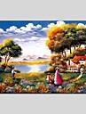 Peint a la main Paysages AbstraitsModern / Classique / Realisme / Pastoral / Style europeen Un Panneau Toile Peinture a l\'huile Hang-peint