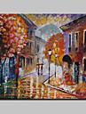 Peint a la main Abstrait / Paysage / Paysages AbstraitsModern Un Panneau Toile Peinture a l\'huile Hang-peint For Decoration d\'interieur