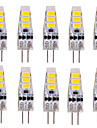 3W G4 LED a Double Broches T 6 SMD 5730 500-700 lm Blanc Chaud Blanc Froid Decorative DC 12 V 10 pieces