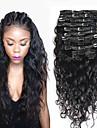 8a 100% remy naturlig klipp i mänskliga hårförlängningar brasilianska jungfru hår klipp i förlängningen vatten våg