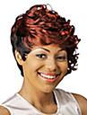 nouvelles a court boucles mix-clolor perruques de cheveux synthetiques elegantes
