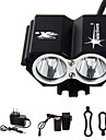 Lampes Frontales Eclairage de Velo / bicyclette Lampe Avant de Velo LED 5000 Lumens 4.0 Mode Cree XM-L T6 Etanche Rechargeable Urgence