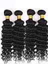 brasilianska vinkar djupt jungfru hår 150g mänskliga hårförlängning 3st djup lockigt jungfru hår