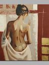 HANDMÅLAD Abstrakt / Människor / nakenModerna En panel Kanvas Hang målad oljemålning For Hem-dekoration