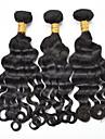 """3pcs / lot 12 """"-28"""" naturelle armure de cheveux humains noir cheveux remy vierge de cheveux brazilian vague lache"""