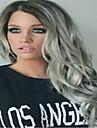 3st / lot # 1b / grå hårförlängningar brasilianska ombre jungfru silvergrå hår inslags väva boby våg