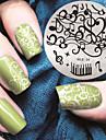 2016 senaste versionen mode mönster musik noterar nail art stämpling bild mall plattor