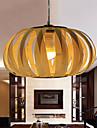 12W Lampe suspendue ,  Retro Autres Fonctionnalite for LED Bois/BambouSalle de sejour Chambre a coucher Salle a manger Bureau/Bureau de