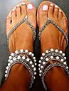 נעלי נשים-סנדלים-דמוי עור-כפכפים-לבן / כסוף / זהב-שמלה / קז\'ואל / מסיבה וערב-עקב נמוך
