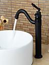 Contemporain Set de centre Cascade with  Valve en ceramique Mitigeur un trou for  Bronze huile , Robinet lavabo
