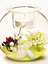pastoral verre de style couleur sable pour la decoration maison 1pc / set (vase avec du sable aucune fleur)