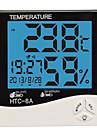 fuktighet mete lcd digital htc-8 temperatur instrumentering termometer hygrometer temperatur luftfuktighet mätare klocka