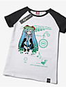 Inspirerad av Vocaloid Hatsune Miku Animé Cosplay-kostymer Cosplay T-shirt Tryck Gul Kort ärm T-shirt För Unisex