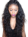 spets front människohår peruker naturliga våg limfria främre spets våt vågiga peruk brasilianska jungfru hår spets front med baby hår