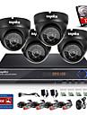 sannce® 8ch CCTV-system 720p kamera 1080p hdmi AHD CCTV dvr 4st 1,0 mp ir utomhus säkerhet kameraövervakningssystem