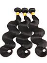 hög kvalitet 3Bundles 150g brasilianska jungfru hår naturligt svart kropp våg obearbetat jungfru människohår väver