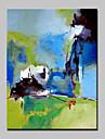 Peint a la main Abstrait / Paysages Abstraits / POPModern Un Panneau Toile Peinture a l\'huile Hang-peint For Decoration d\'interieur
