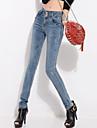 Femei Femei Pantaloni Casual / Șic Stradă Blugi Poliester Micro-elastic