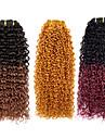 3st / lot 113g / st ombre 7a 100% jungfruligt brasilianskt människohår väver buntar hårweft, kinky lockigt, naturliga färgglada hår