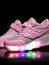 Garcon Fille-Decontracte Sport-Rose Noir et rouge Noir et blancConfort Rollers Light Up Chaussures-Baskets-Cuir