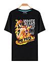 Inspire par One Piece Monkey D. Luffy Manga Costumes de Cosplay Cosplay T-shirt Imprime Noir Manche Courtes Haut Pour Unisexe