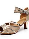Chaussures de danse(Or) -Non Personnalisables-Talon Aiguille-Flocage-Salsa