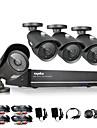 sannce® 8ch CCTV-system 960h dvr 4st 1000tvl ir väder utomhus CCTV kameraövervakning hemsäkerhet kit