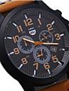 Bărbați Ceas Sport Ceas Militar Ceas de Mână Quartz Calendar Rezistent la Apă Piele Bandă Negru Maro Verde Gri Negru Cafea Maro Verde