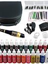 tatouage Solong kit de maquillage permanent stylo de tatouage machine a levre de sourcil definie 23 encres de maquillage ek706-1