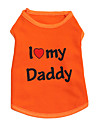 Chat / Chien T-shirt Orange / Noir / Gris Vetements pour Chien Ete Floral / Botanique Mode