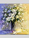 Peint a la main Nature morte / A fleurs/BotaniqueStyle europeen / Modern / Classique / Traditionnel / Pastoral Un Panneau ToilePeinture a