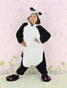 Kigurumi Pyjamas nya Cosplay® / Panda Leotard/Onesie Halloween Animal Sovplagg Vit / svart Lappverk Flanell Kigurumi BarnHalloween / Jul