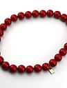 Smycken Inspirerad av One Piece Ace Animé Cosplay Accessoarer Halsband Röd Legering / PVC Man / Kvinna