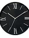 Rond Moderne/Contemporain Horloge murale,Autres Plastique 30.6x30.6x4.5cm