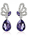Drop Earrings Crystal Rhinestone Alloy Fashion Purple Blue Jewelry Wedding Party Daily Casual 1 pair
