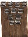 perruque brune cheveux raides extension de cheveux synthetiques 62cm haute temperature de longueur de fil noir