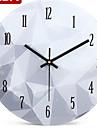 Rond Moderne/Contemporain Horloge murale,Autres Metal 25*25*2.5