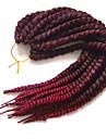 punaise La Havane Tresses Twist Extensions de cheveux 24inch Kanekalon 2X Brin 120g/Pack gramme Braids Hair