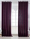 Deux Panneaux Moderne Solide Pourpre Chambre a coucher Metisse Lin et Polyester Panneau Rideaux rideaux
