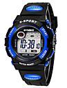 Copii Ceas Sport Piloane de Menținut Carnea LCD Calendar Cronograf alarmă Luminos Cauciuc Bandă Negru
