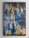 handmålade oljemålning abstrakt blått och guld abstrakt med sträckt ram 7 vägg arts®