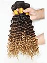 Tissages de cheveux humains Cheveux Peruviens Ondulation profonde 18 Mois 3 Pieces tissages de cheveux