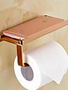 Porte Papier Toilette Dore Fixation Murale 7*3.5*3.1 pouces Laiton Contemporain