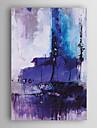 handmålade oljemålning abstrakt lila färg med sträckt ram 7 vägg arts®