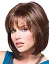multi-couleur du milieu cheveux raides perruque synthetique europeenne