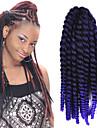 12-24 tum virka fläta havana mambo afro twist hårförlängning svart till lila med virknål