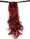 vague d\'eau brun moyen synthetique du type bandage queue de cheval perruque de cheveux rouge (color118)